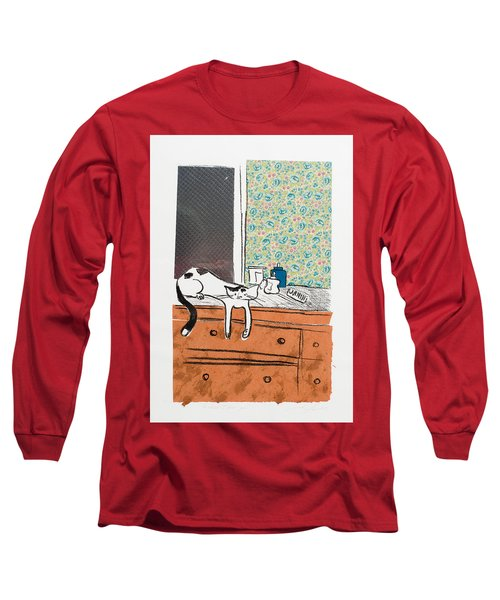 Go Ahead I Dare Ya. Long Sleeve T-Shirt by Leela Payne