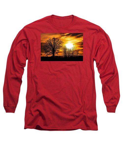 Golden Brushstrokes Long Sleeve T-Shirt
