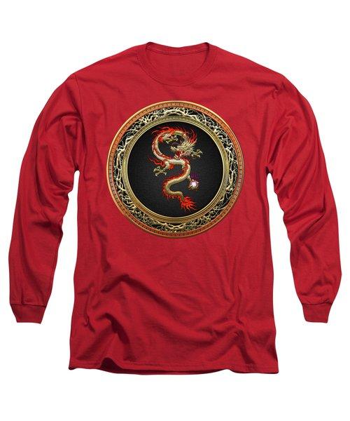 Golden Chinese Dragon Fucanglong Long Sleeve T-Shirt