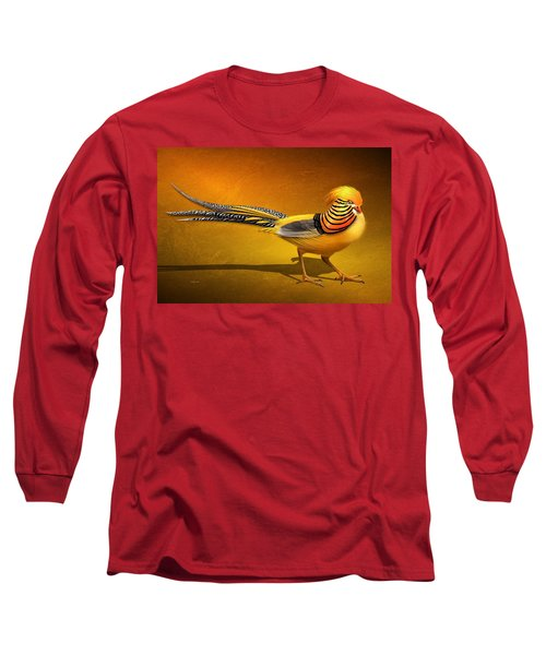 Golden Chinese Pheasant Long Sleeve T-Shirt