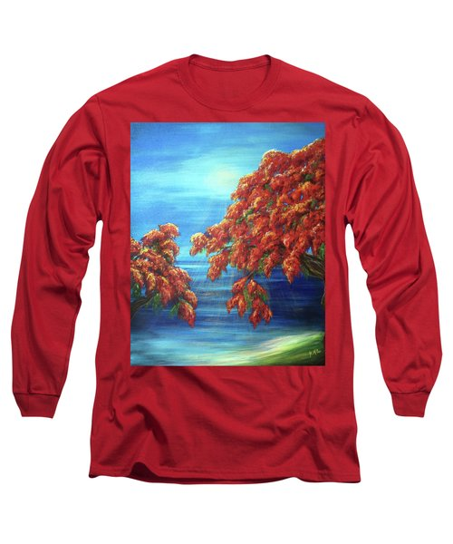 Golden Flame Tree Long Sleeve T-Shirt