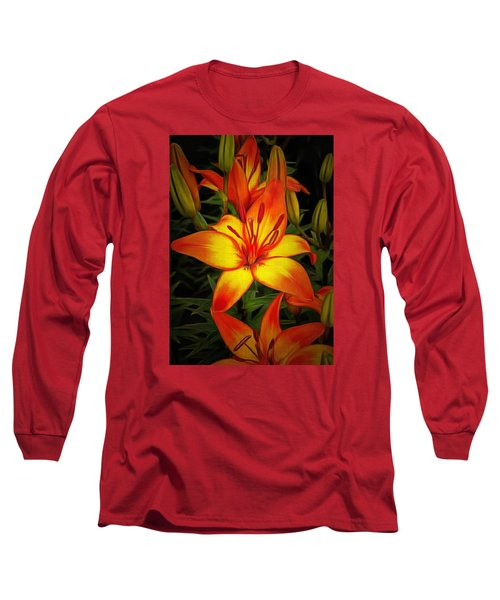 Golden Lilies Long Sleeve T-Shirt