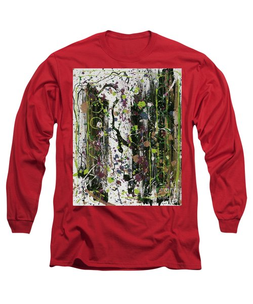 Golden Lime Royal Purple Dreams Long Sleeve T-Shirt by Talisa Hartley