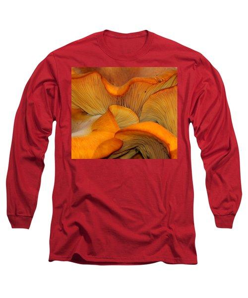 Golden Mushroom Abstract Long Sleeve T-Shirt