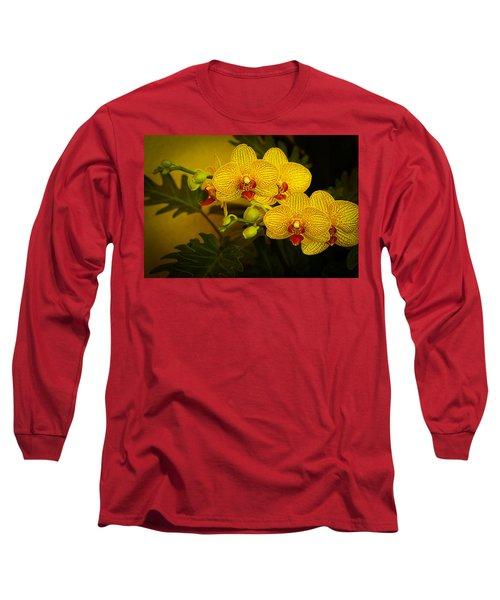 Golden Orchids Long Sleeve T-Shirt