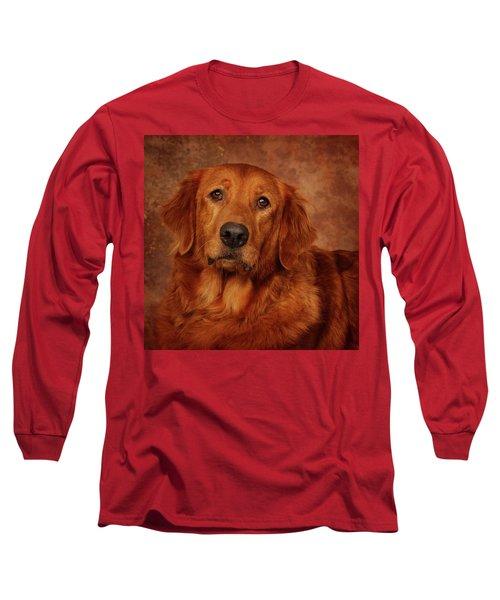 Golden Retriever Long Sleeve T-Shirt by Greg Mimbs