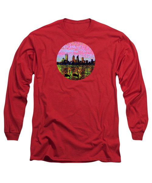 Golden Skyline Perth Long Sleeve T-Shirt by Alan Hogan