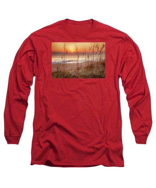 Golden Sunrise Long Sleeve T-Shirt by David Cote