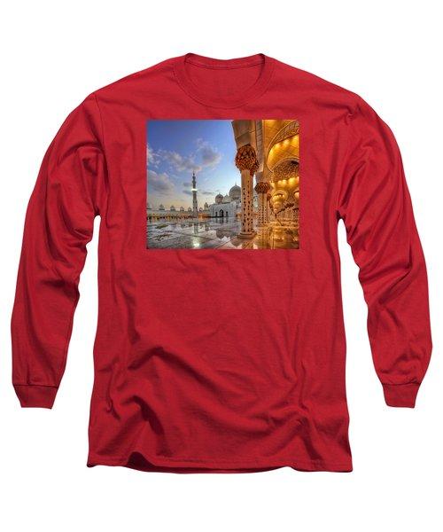 Long Sleeve T-Shirt featuring the photograph Golden Temple by John Swartz