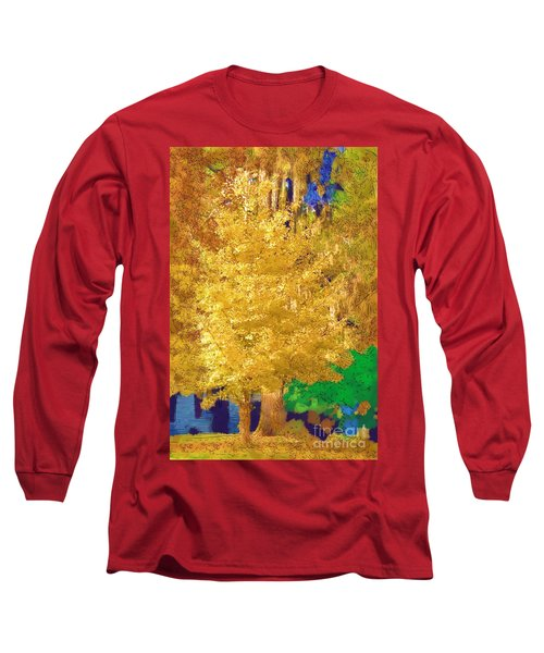 Long Sleeve T-Shirt featuring the photograph Golden Tree by Donna Bentley