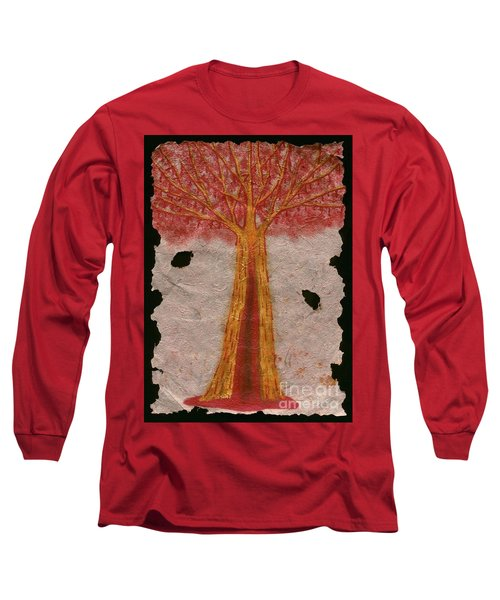 Golden Trees Crying Tears Of Blood Long Sleeve T-Shirt by Talisa Hartley