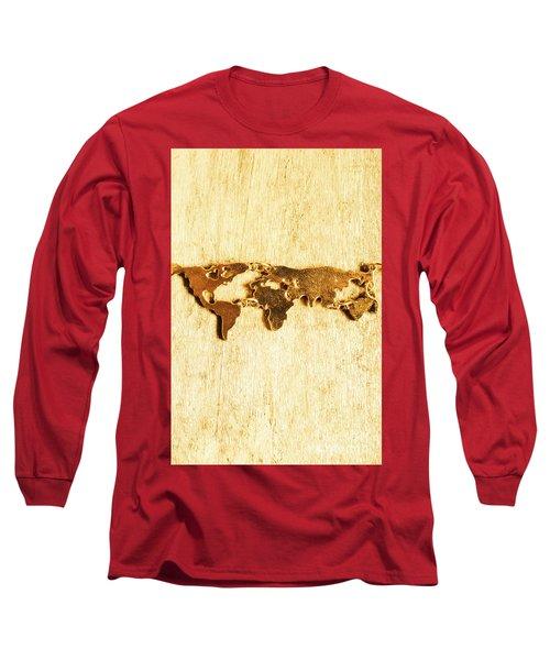 Golden World Continents Long Sleeve T-Shirt