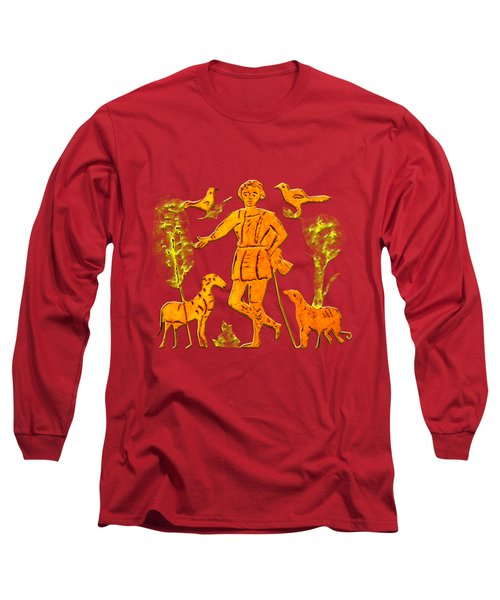 Good Shepherd Long Sleeve T-Shirt by Asok Mukhopadhyay
