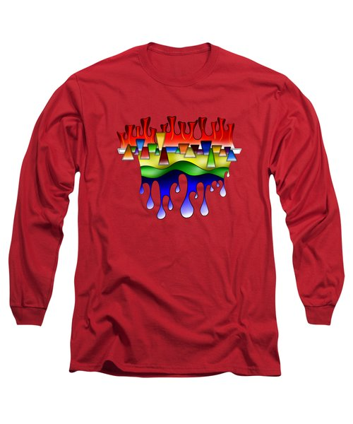 Grafenonci V4 - Digital Abstract Long Sleeve T-Shirt
