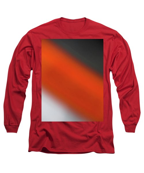 Gray Orange Grey Long Sleeve T-Shirt