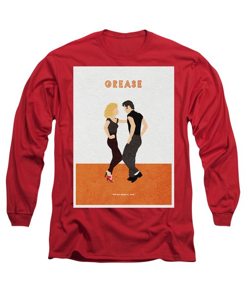 Long Sleeve T-Shirt featuring the painting Grease by Inspirowl Design
