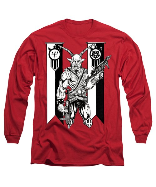 Great Goat War Long Sleeve T-Shirt by Alaric Barca