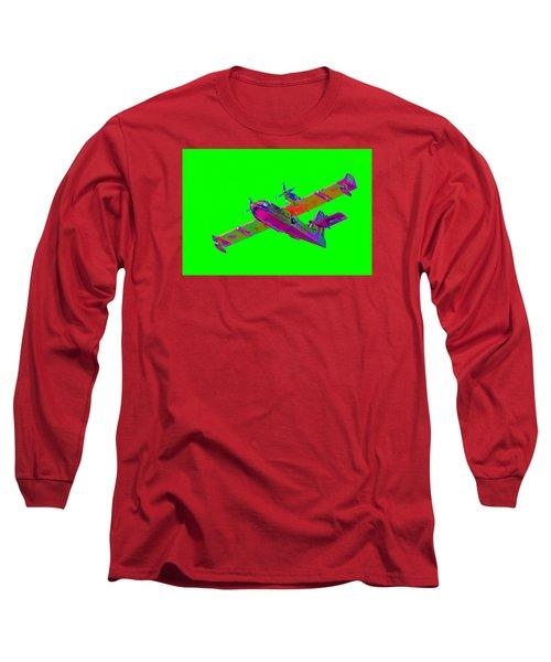Green Fire Flight  Long Sleeve T-Shirt by Richard Patmore