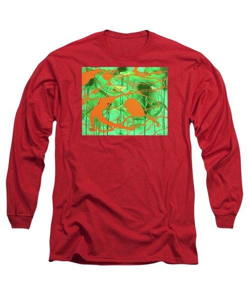 Green Spill Long Sleeve T-Shirt