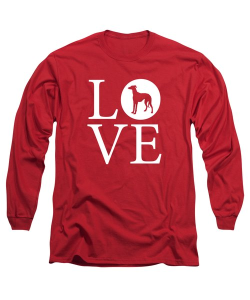 Greyhound Love Red Long Sleeve T-Shirt