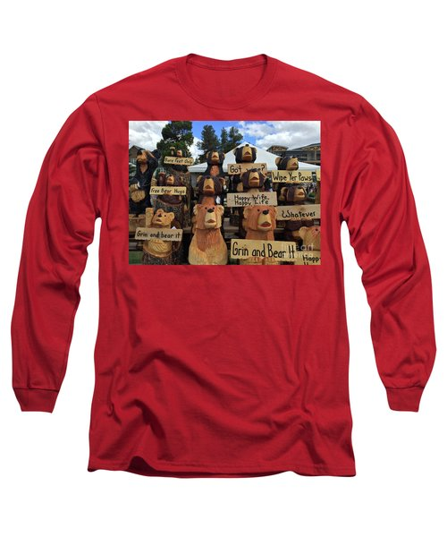 Grin And Bear It Long Sleeve T-Shirt by Beth Saffer