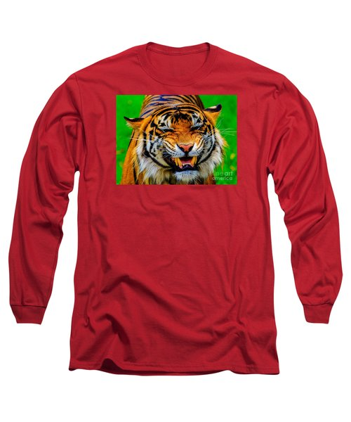 Growling Tiger Long Sleeve T-Shirt