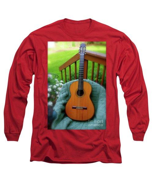 Guitar Awaiting Long Sleeve T-Shirt