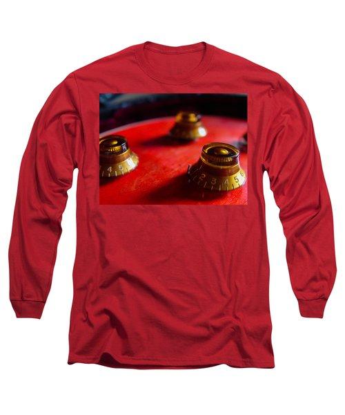 Long Sleeve T-Shirt featuring the digital art Guitar Controls Series by Guitar Wacky