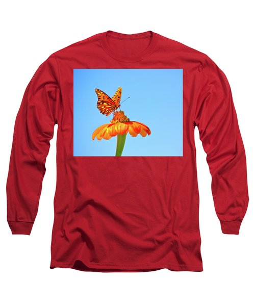 Gulf Fritillary Landing Long Sleeve T-Shirt