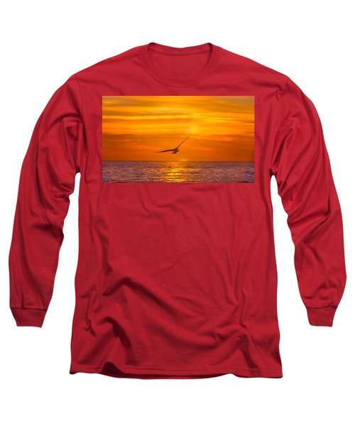 Gull At Sunrise Long Sleeve T-Shirt