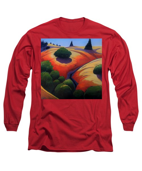 Long Sleeve T-Shirt featuring the painting Gully by Gary Coleman