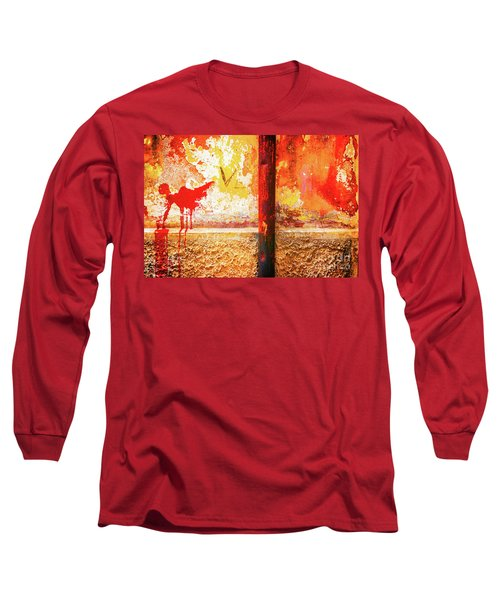 Long Sleeve T-Shirt featuring the photograph Gutter And Decayed Wall by Silvia Ganora