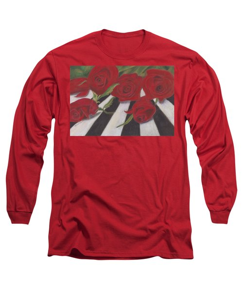 Long Sleeve T-Shirt featuring the painting Half Dozen Red by Arlene Crafton