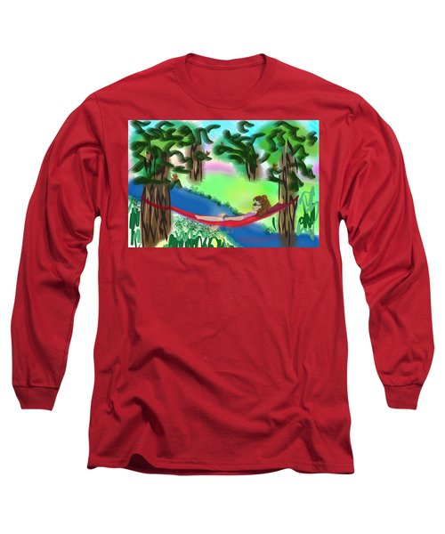 Hammock Under The Chihuahua Trees Long Sleeve T-Shirt