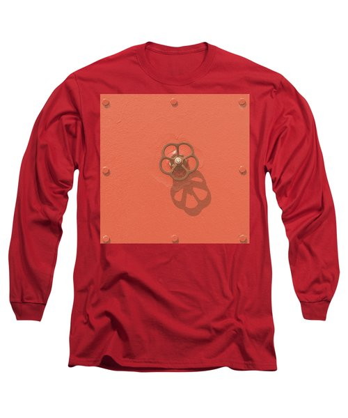 Handwheel - Orange Long Sleeve T-Shirt