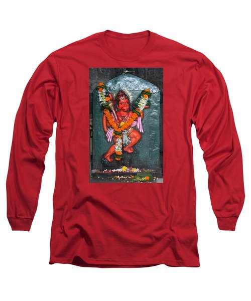 Hanuman Ji, Somewhere Near Ganeshpuri Long Sleeve T-Shirt by Jennifer Mazzucco