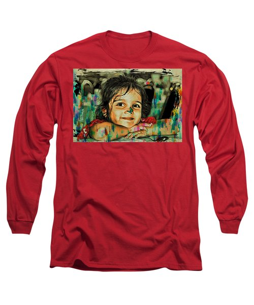 Long Sleeve T-Shirt featuring the digital art Happiness  by Bliss Of Art