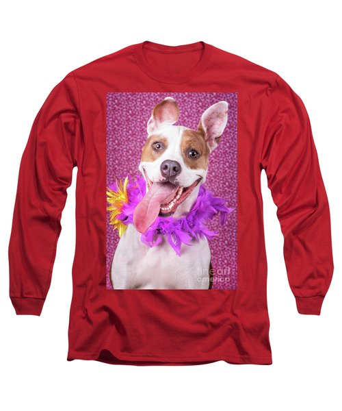 Hapy Dog Long Sleeve T-Shirt by Stephanie Hayes