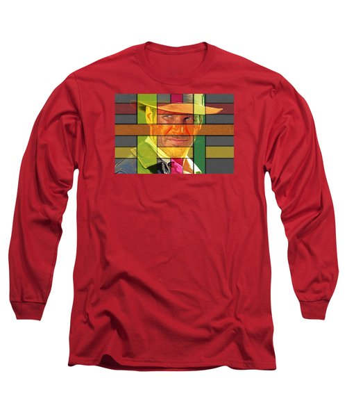 Harrison Ford Long Sleeve T-Shirt by Manjot Singh Sachdeva