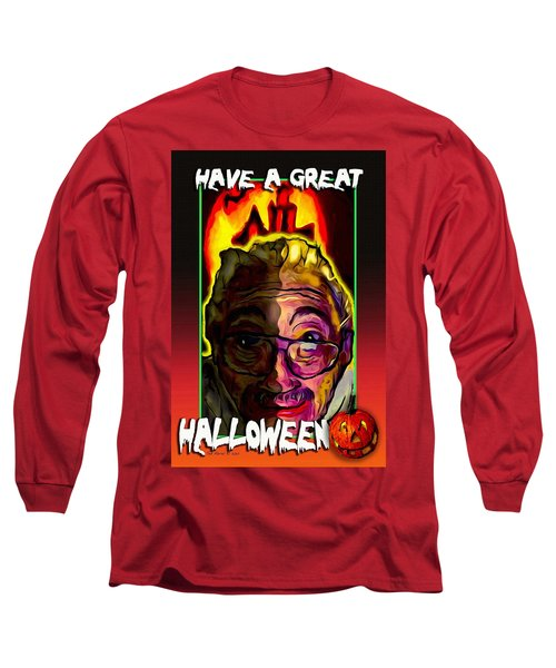 Long Sleeve T-Shirt featuring the painting Have A Great Halloween by Ted Azriel