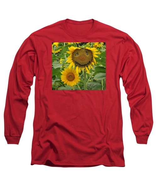 Have A Groovy Day Said The Hippie Flower Long Sleeve T-Shirt by Joanne Brown
