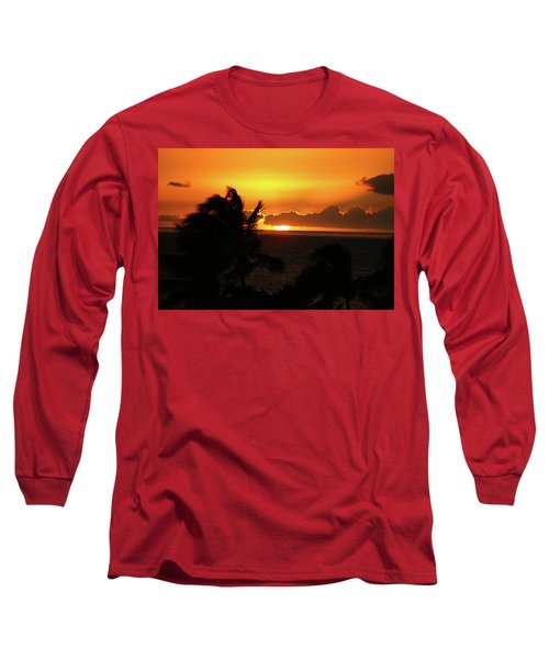 Long Sleeve T-Shirt featuring the photograph Hawaiian Sunset by Anthony Jones