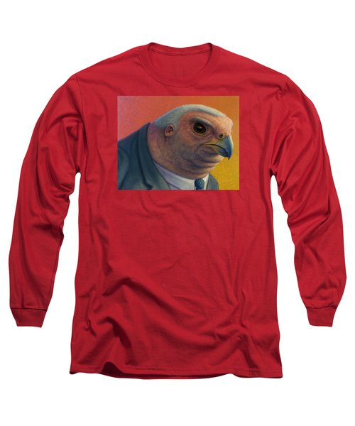 Long Sleeve T-Shirt featuring the painting Hawkish by James W Johnson