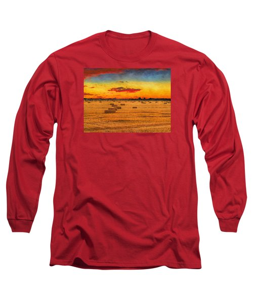 Hay Fields Long Sleeve T-Shirt by Greg Norrell