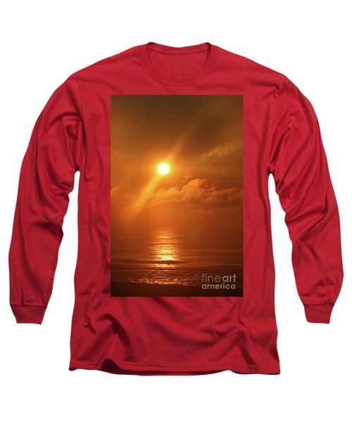Hazy Orange Sunrise On The Jersey Shore Long Sleeve T-Shirt