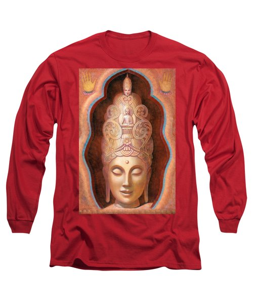 Long Sleeve T-Shirt featuring the painting Healing Tara by Sue Halstenberg
