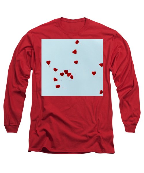Heart Balloons In The Sky Long Sleeve T-Shirt by Valerie Ornstein