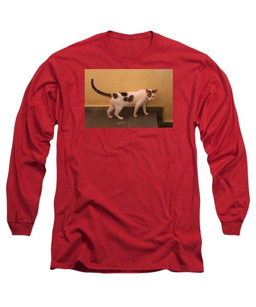 Heart Cat At Rosie's In Ganeshpuri Long Sleeve T-Shirt