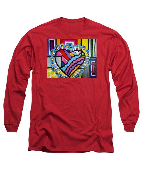Heart Long Sleeve T-Shirt by Jose Rojas