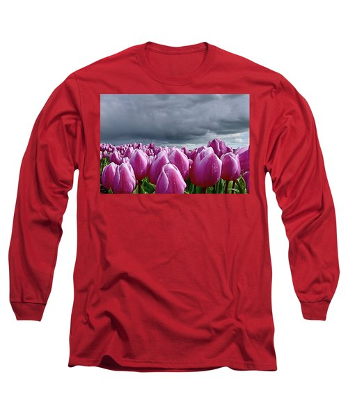 Heavy Clouds Long Sleeve T-Shirt by Mihaela Pater